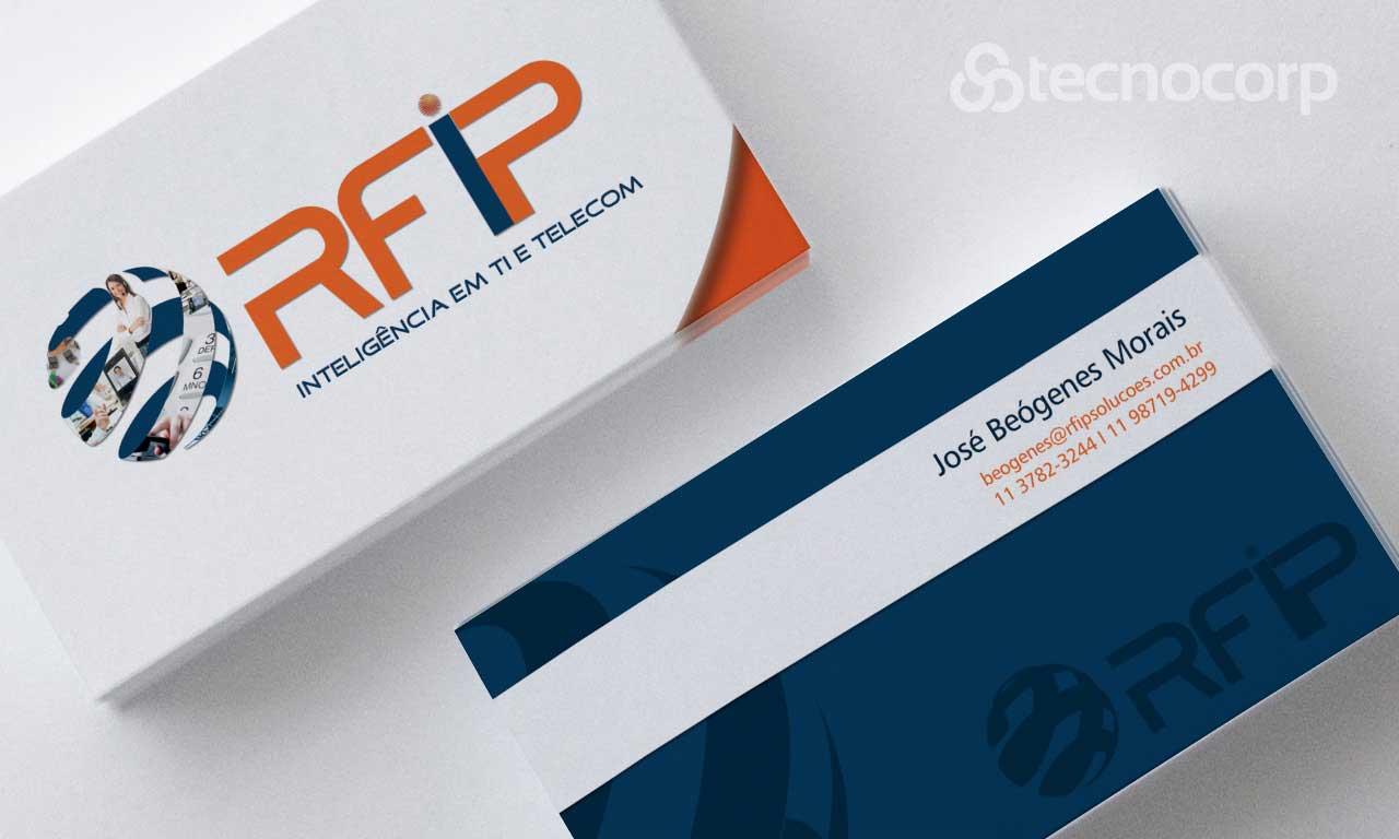 Mídia Impressa Cartão de Visita - RFIP Soluções