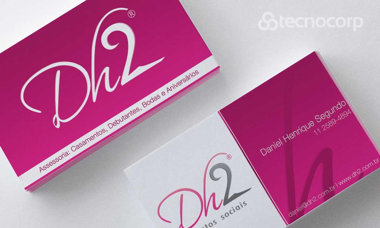 Mídia Impressa Cartão de Visita - DH2 Eventos