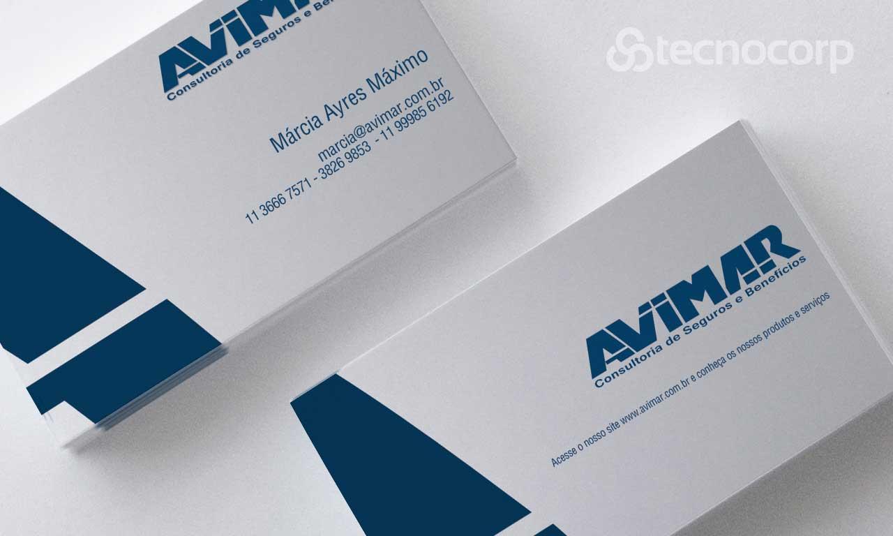 Mídia Impressa Cartão de Visita - Avimar