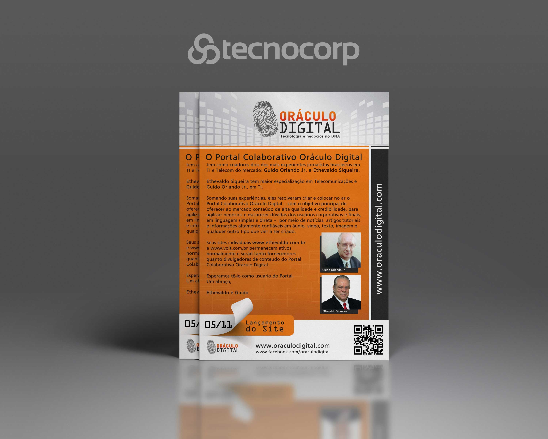 Mídia Impressa Folheto Oráculo Digital